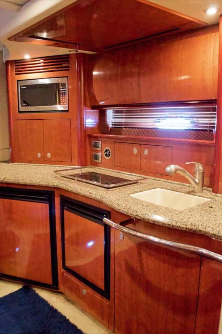 Sea Ray-390 Sundancer 2005-For My Boys Long Island-New York-United States-Galley  TV stowed above-1170054 | Thumbnail