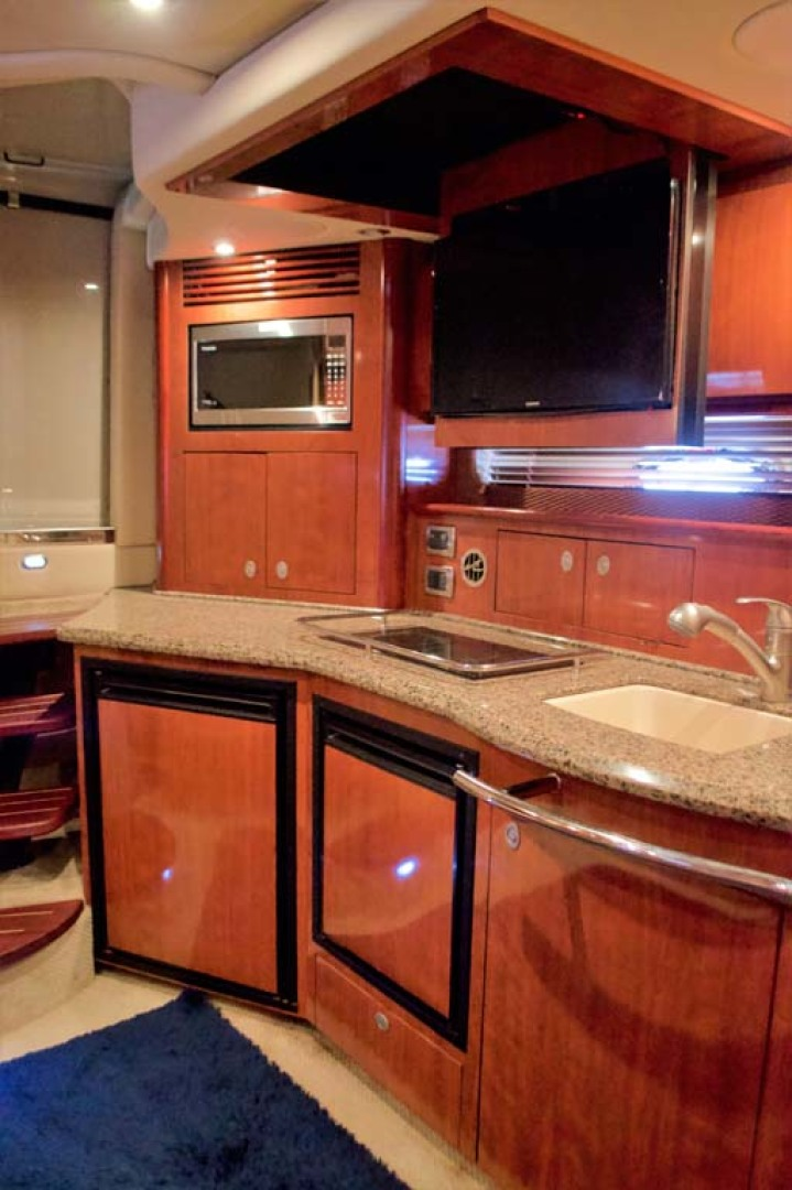 Sea Ray-390 Sundancer 2005-For My Boys Long Island-New York-United States-3 Galley with TV flipped down-1170053 | Thumbnail