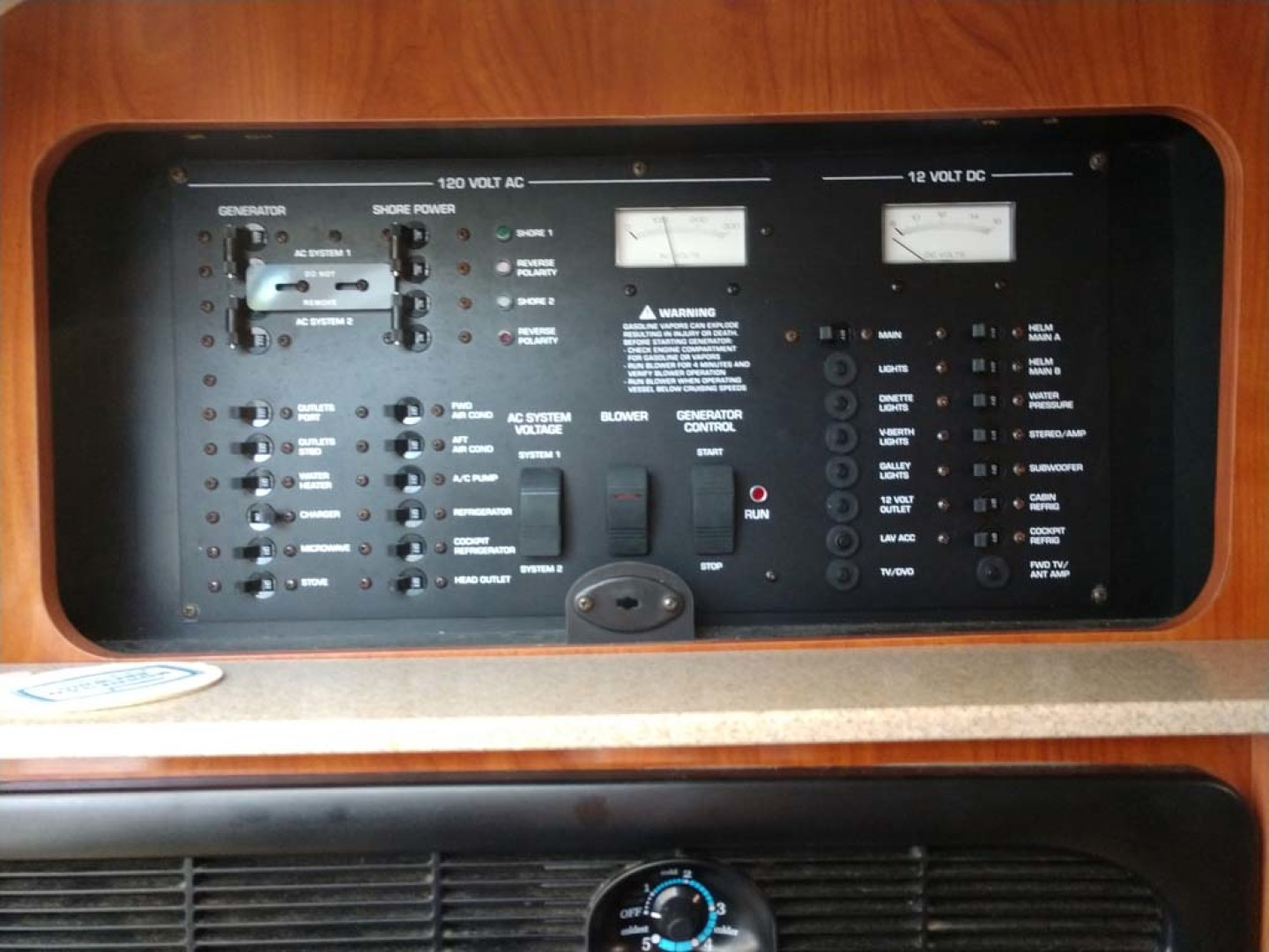 Larson-Cabrio 370 2007-My Tye XII Wiscasset-Maine-United States-Electrical Panel-1174499 | Thumbnail