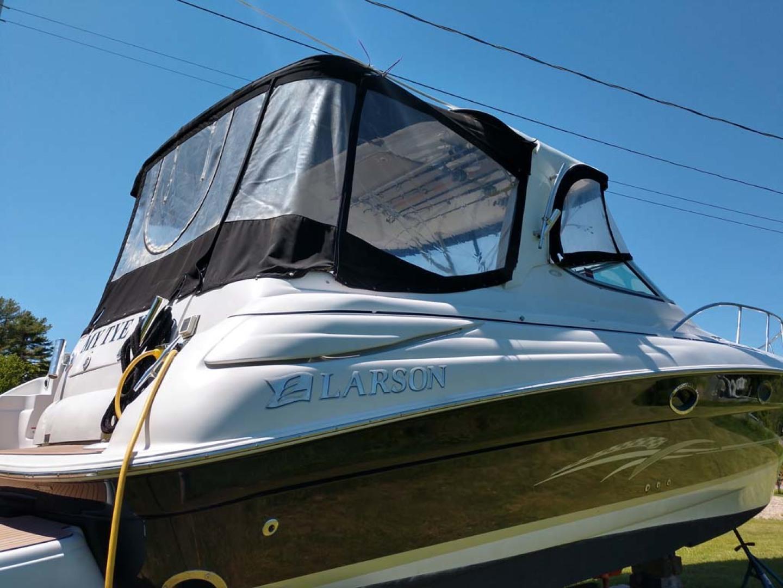 Larson-Cabrio 370 2007-My Tye XII Wiscasset-Maine-United States-Eisinglass Cockpit Enclosure-1174458 | Thumbnail