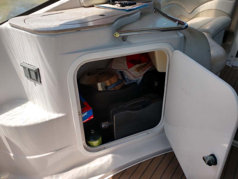 Larson-Cabrio 370 2007-My Tye XII Wiscasset-Maine-United States-Wet Bar Storage-1174462 | Thumbnail
