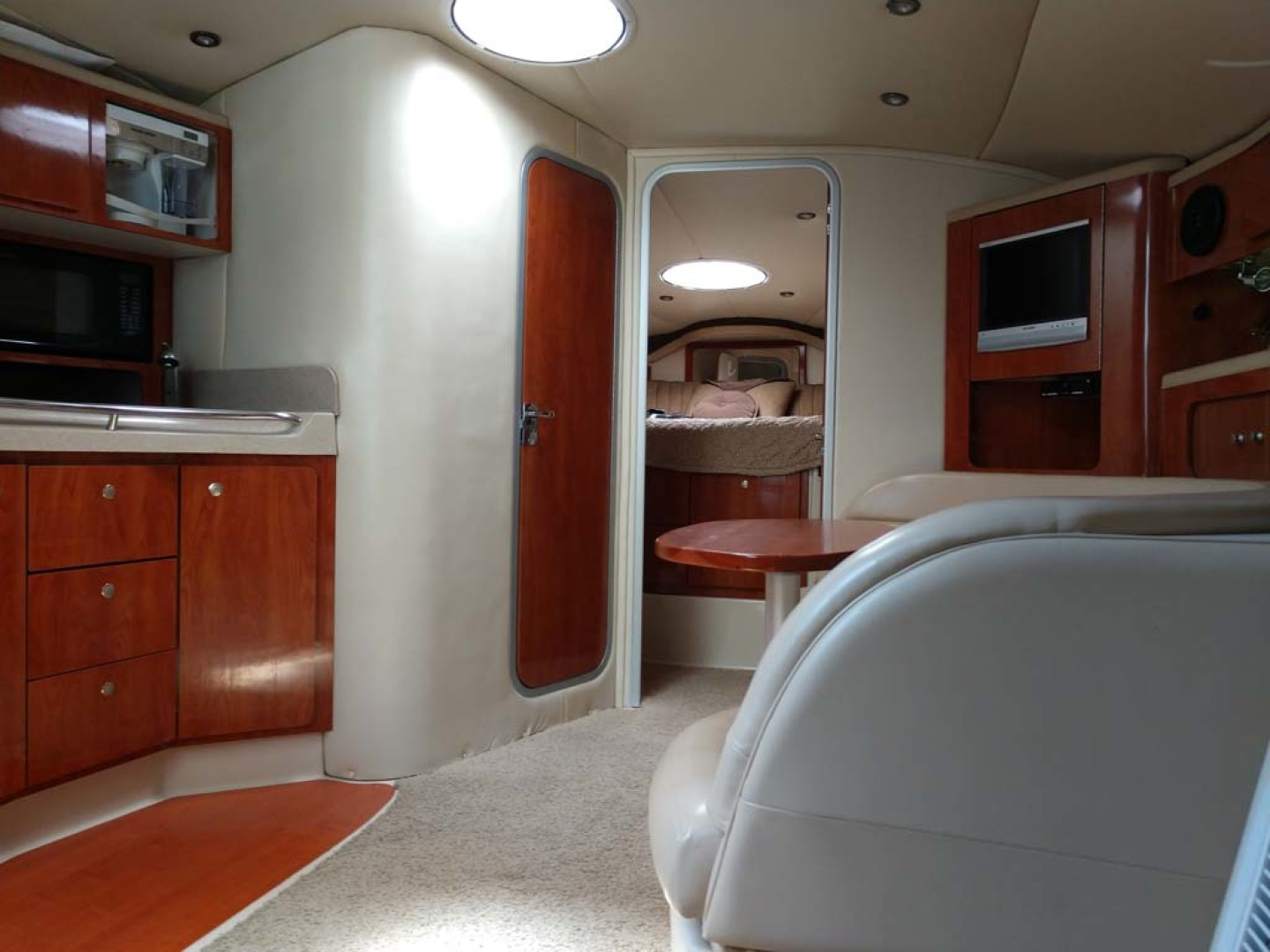 Larson-Cabrio 370 2007-My Tye XII Wiscasset-Maine-United States-Fwd From Double Berth-1174481 | Thumbnail