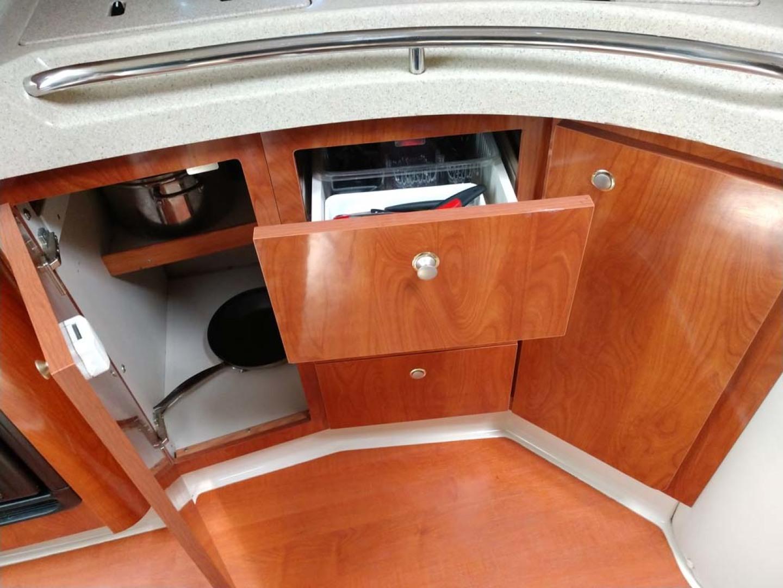 Larson-Cabrio 370 2007-My Tye XII Wiscasset-Maine-United States-Galley Storage-1174507 | Thumbnail