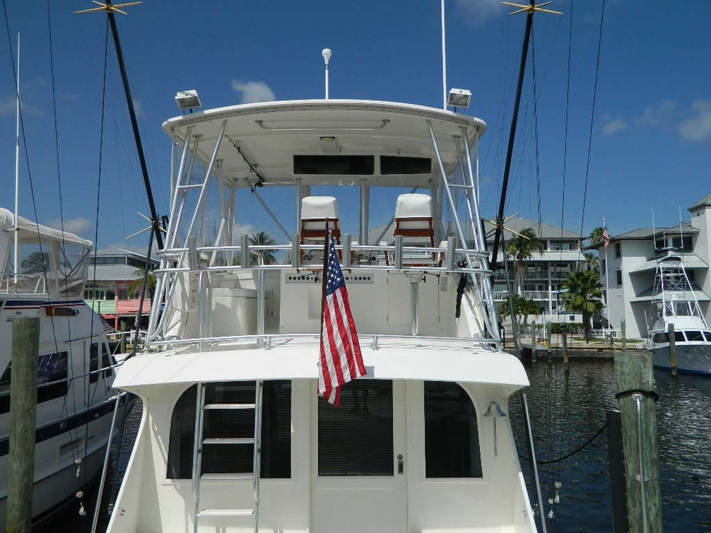 Post-Sport Fisherman 1994-Ingred Stuart-Florida-United States-Flybridge Aft View-1176213 | Thumbnail