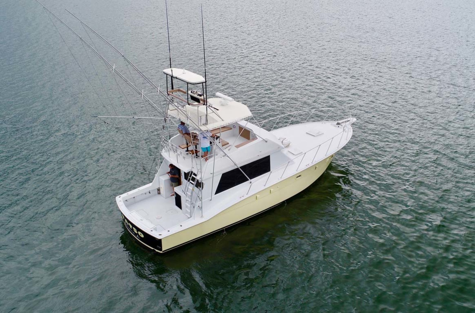 Hatteras-50 Convertible 1982-FATSO Orange Beach-Alabama-United States-3 Starboard Aft In Water-1179258 | Thumbnail