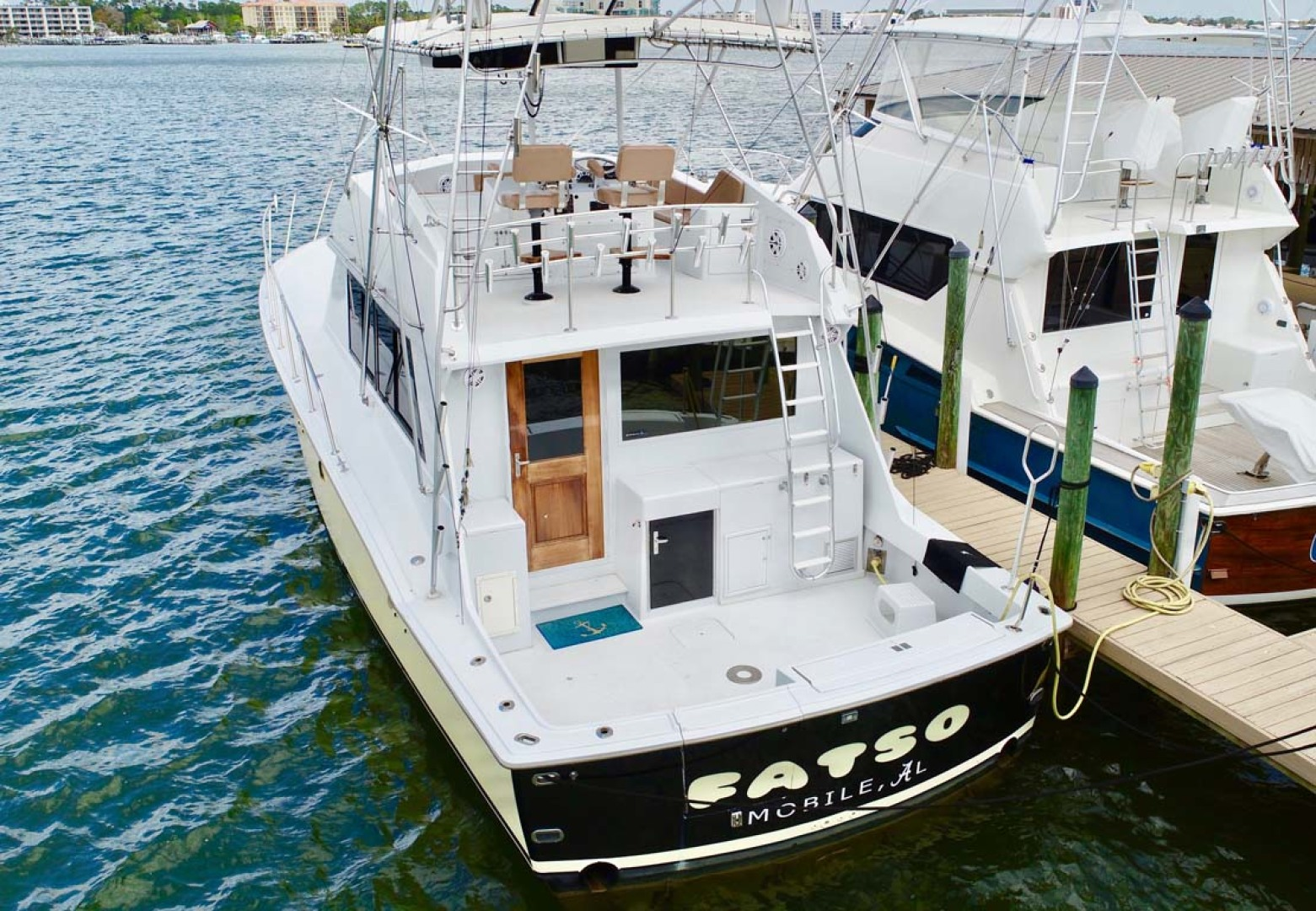 Hatteras-50 Convertible 1982-FATSO Orange Beach-Alabama-United States-13 Stern, Cockpit At Dock-1179268 | Thumbnail