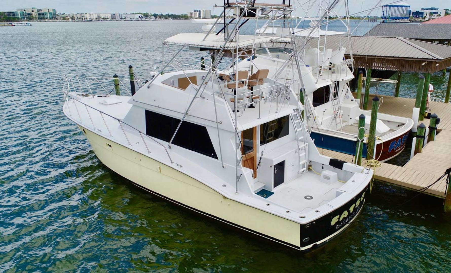 Hatteras-50 Convertible 1982-FATSO Orange Beach-Alabama-United States-24 Port Cockpit   Dock-1179278 | Thumbnail