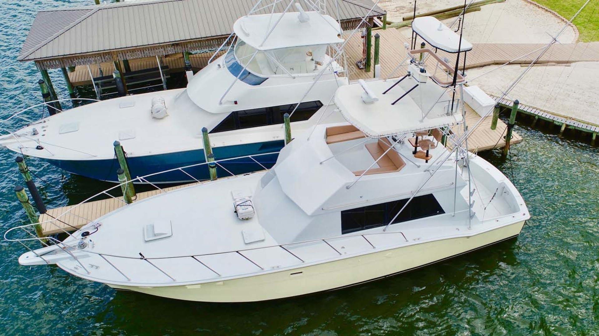 Hatteras-50 Convertible 1982-FATSO Orange Beach-Alabama-United States-6 Deck, Flybridge, Tower   From Above-1179261 | Thumbnail