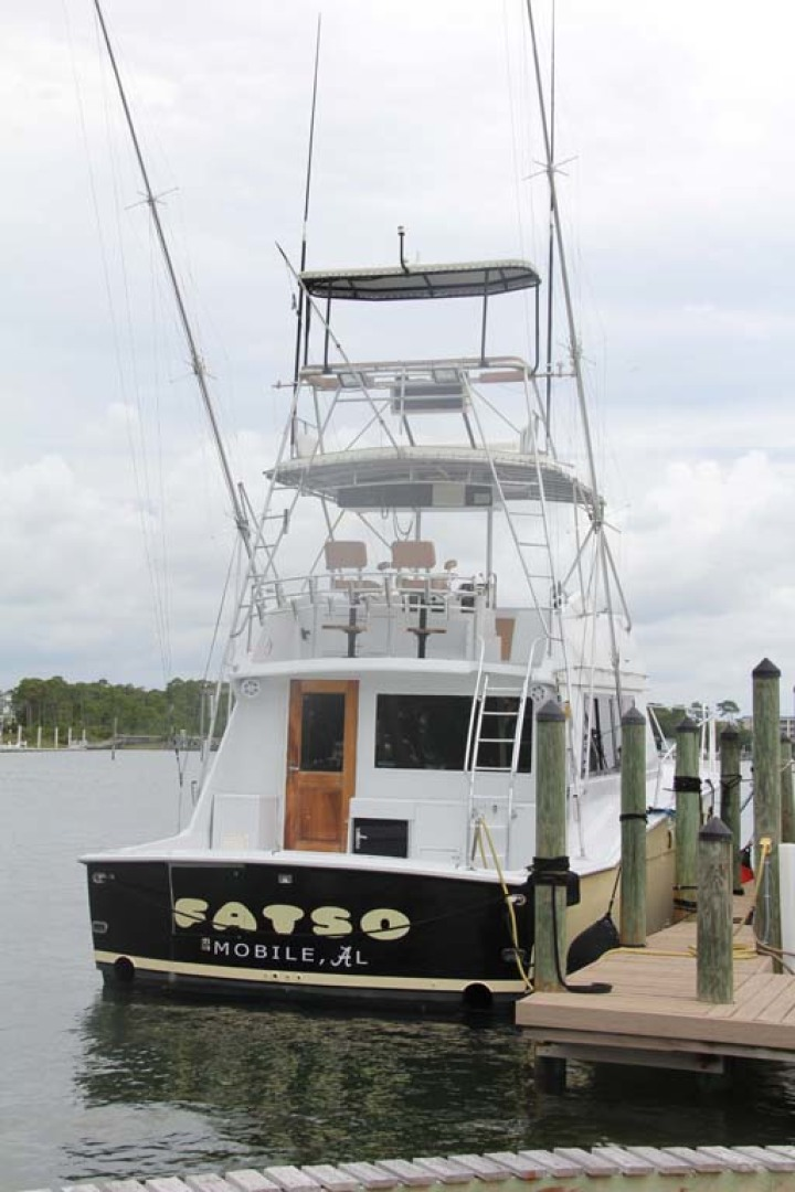 Hatteras-50 Convertible 1982-FATSO Orange Beach-Alabama-United States-33 Stern At Dock-1179287 | Thumbnail