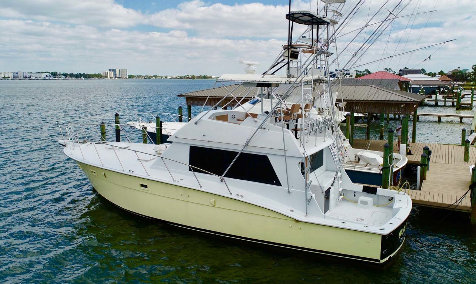Hatteras-50 Convertible 1982-FATSO Orange Beach-Alabama-United States-32 Port Aft   Dock-1179286 | Thumbnail