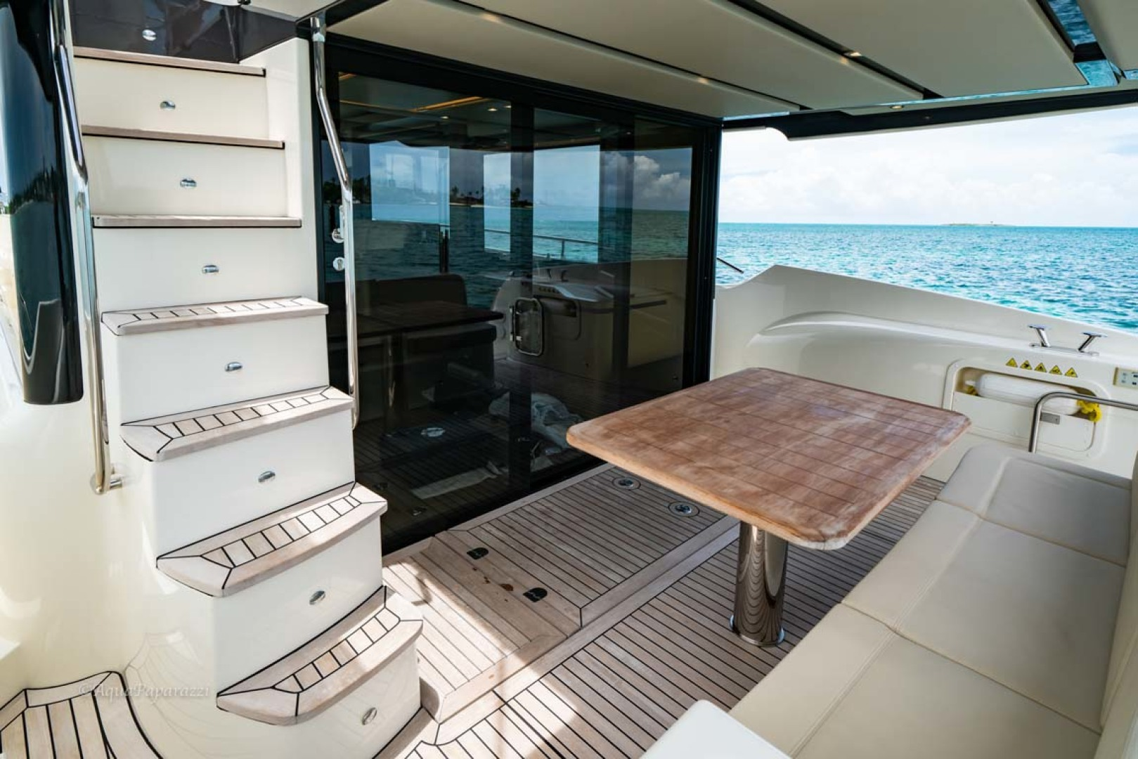 Absolute-52 Navetta 2017-Ohana North Palm Beach-Florida-United States-Stairs From Flybridge To Aft Deck-1189363 | Thumbnail