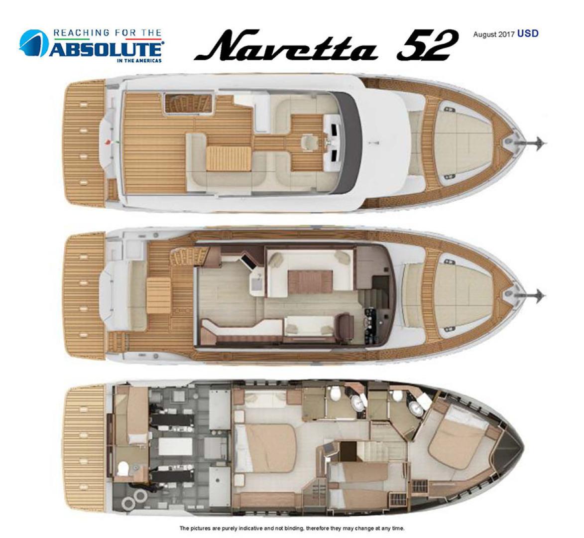 Absolute-52 Navetta 2017-Ohana North Palm Beach-Florida-United States-Absolute 52 Layout Diagrams-1189382 | Thumbnail