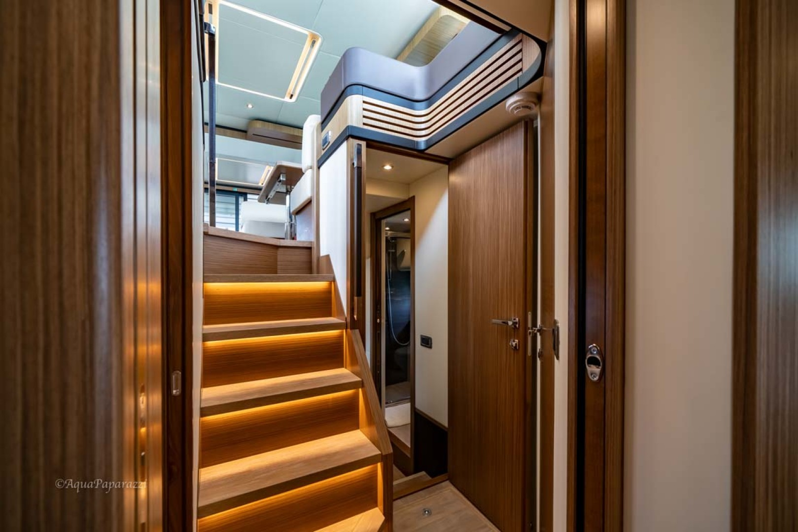 Absolute-52 Navetta 2017-Ohana North Palm Beach-Florida-United States-Stairs To Staterooms-1189327 | Thumbnail