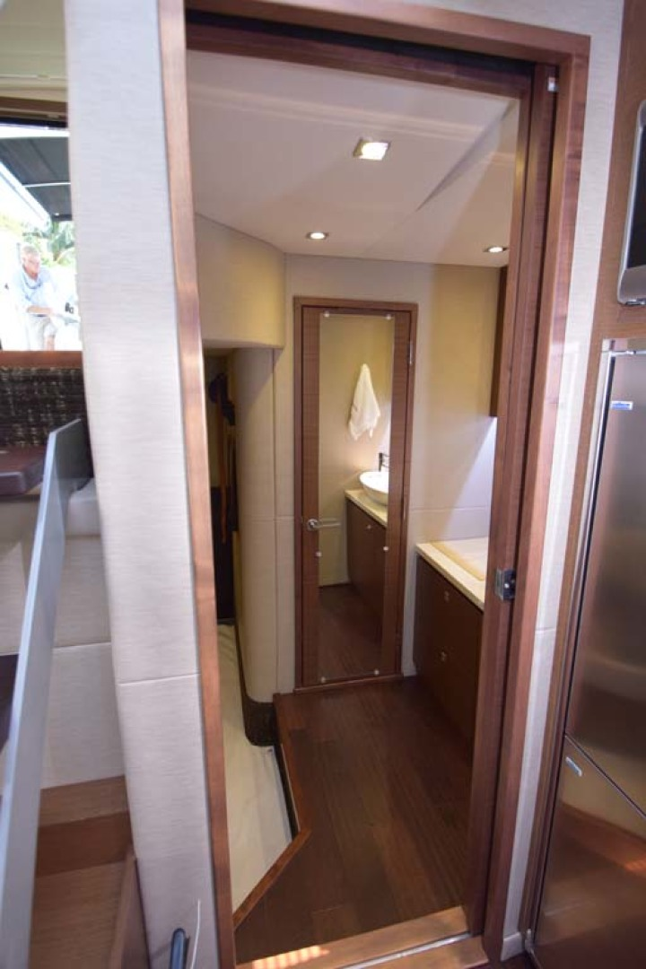 Sea Ray-510 Sundancer 2015 -Ft Lauderdale-Florida-United States-Galley View Into Main Stateroom-1189941 | Thumbnail