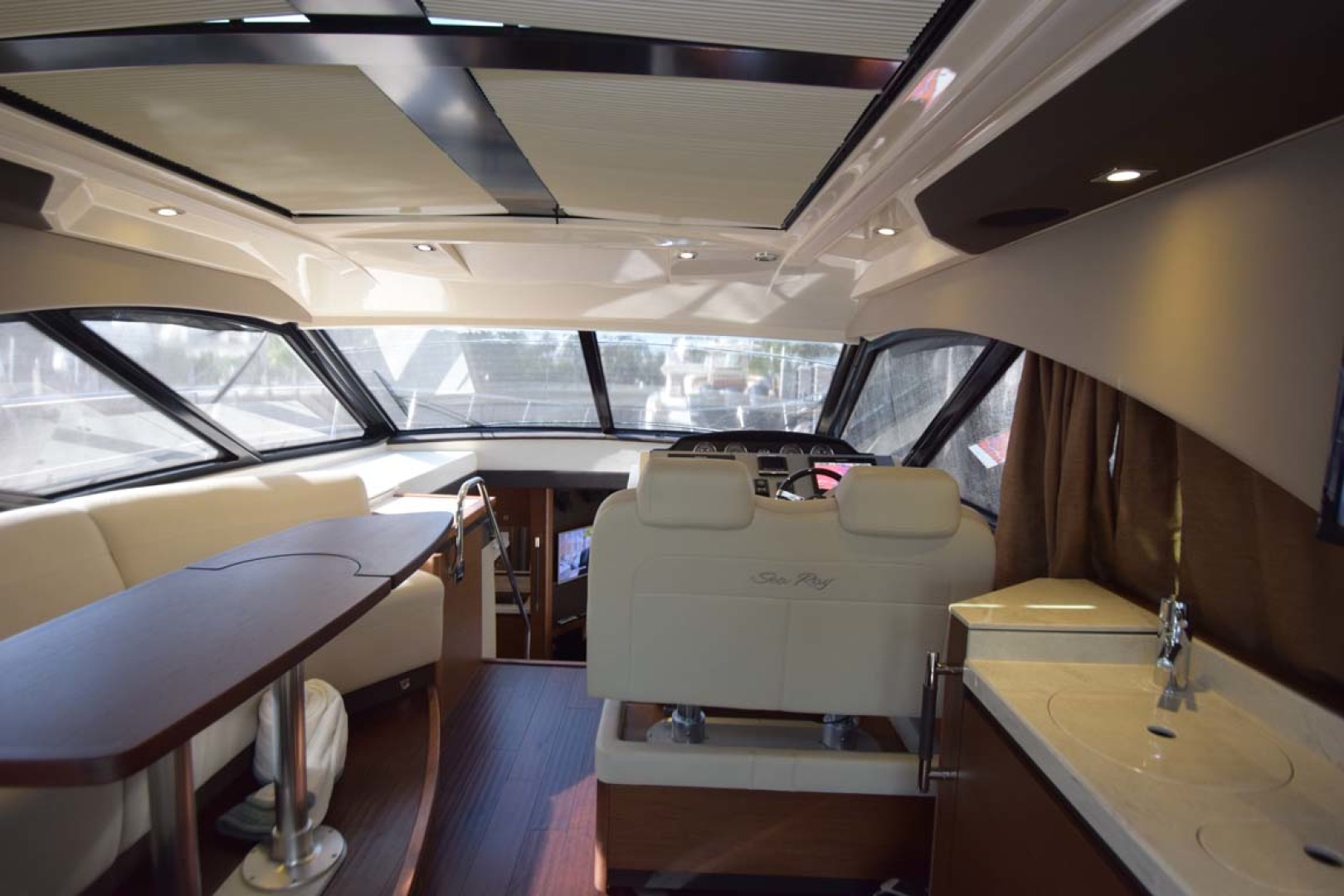 Sea Ray-510 Sundancer 2015 -Ft Lauderdale-Florida-United States-Salon View To Bow With Shades Closed-1189924 | Thumbnail