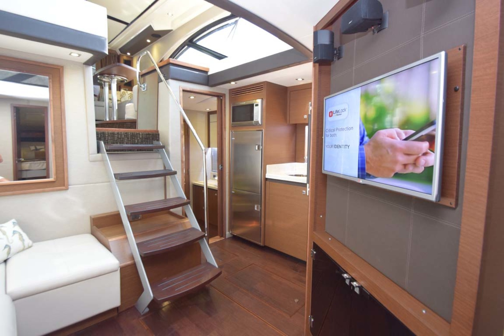Sea Ray-510 Sundancer 2015 -Ft Lauderdale-Florida-United States-Lower Salon View From Guest Stateroom-1189929 | Thumbnail