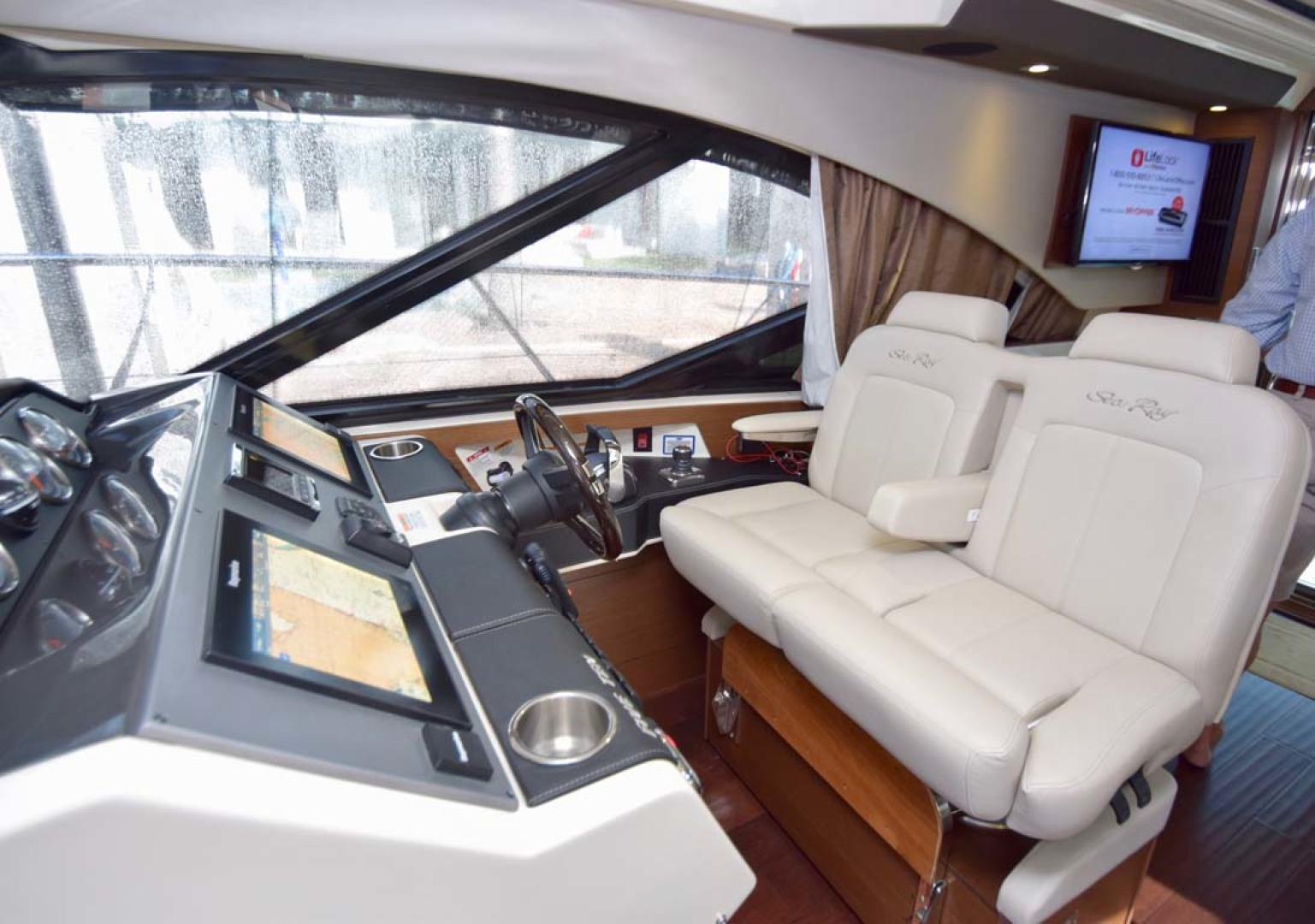Sea Ray-510 Sundancer 2015 -Ft Lauderdale-Florida-United States-Helm View To Port-1189964 | Thumbnail