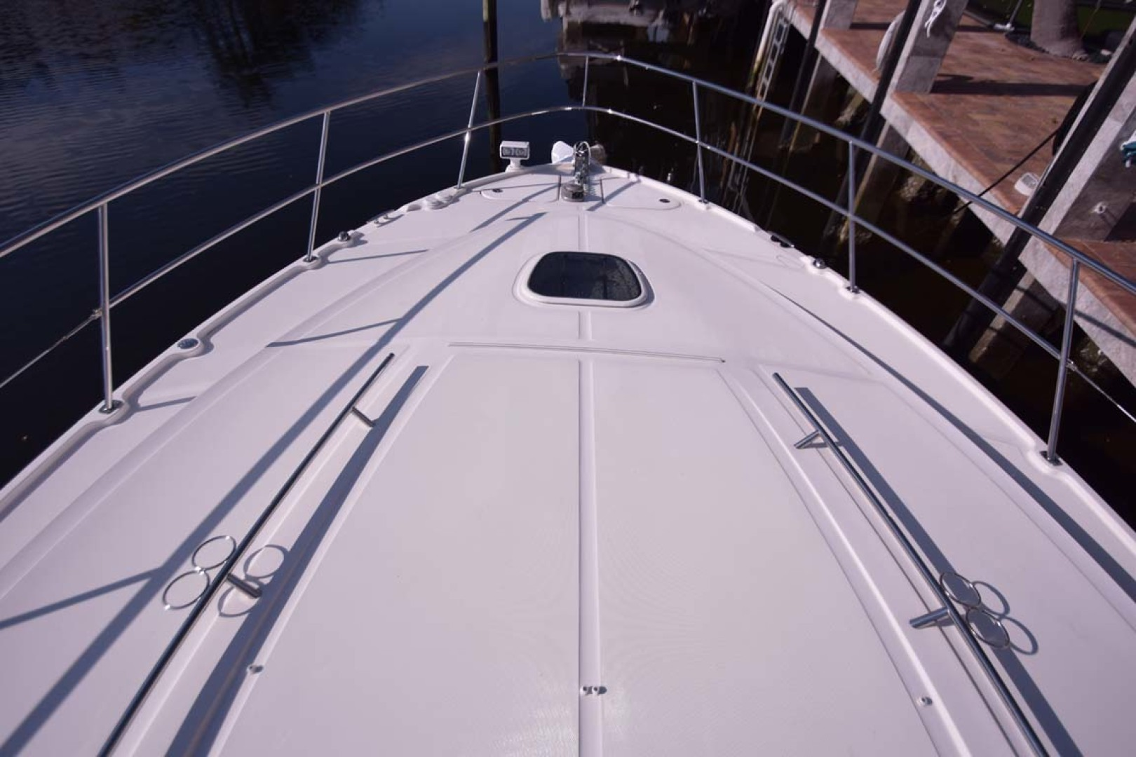Sea Ray-510 Sundancer 2015 -Ft Lauderdale-Florida-United States-Bow View From Windshield-1189907 | Thumbnail