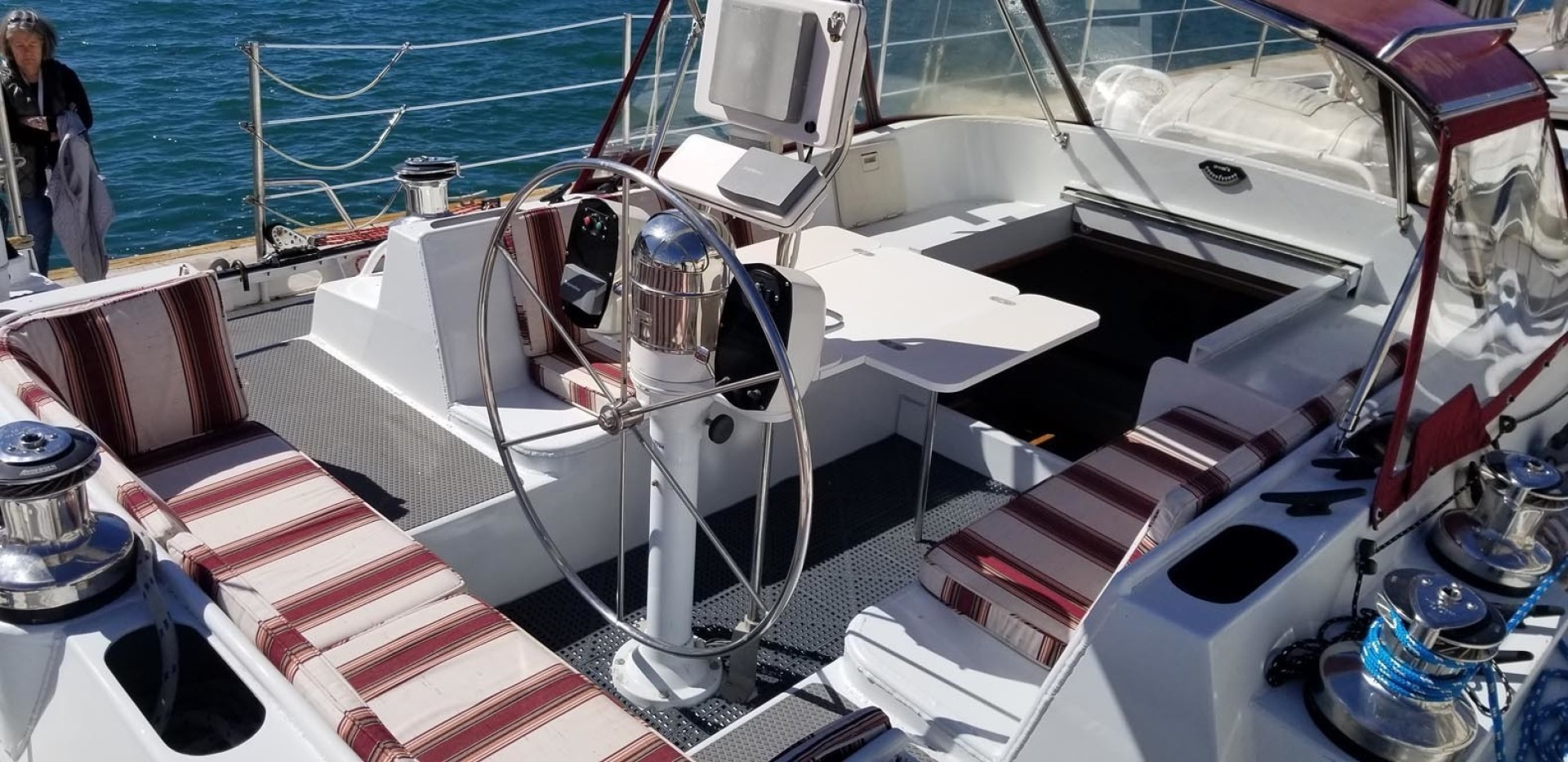 Polar-Beluga 2000-Northern Dream Currently Cruising-Mexico-Cockpit Seating, Steering Pedestal, Cabin Entry-1339792 | Thumbnail