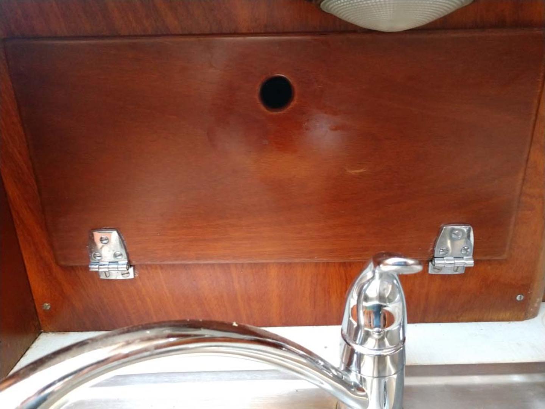 Hinckley-Bermuda 40 MK III Sloop 1979-Evensong Camden-Maine-United States-Galley Sink Storage-1200128 | Thumbnail