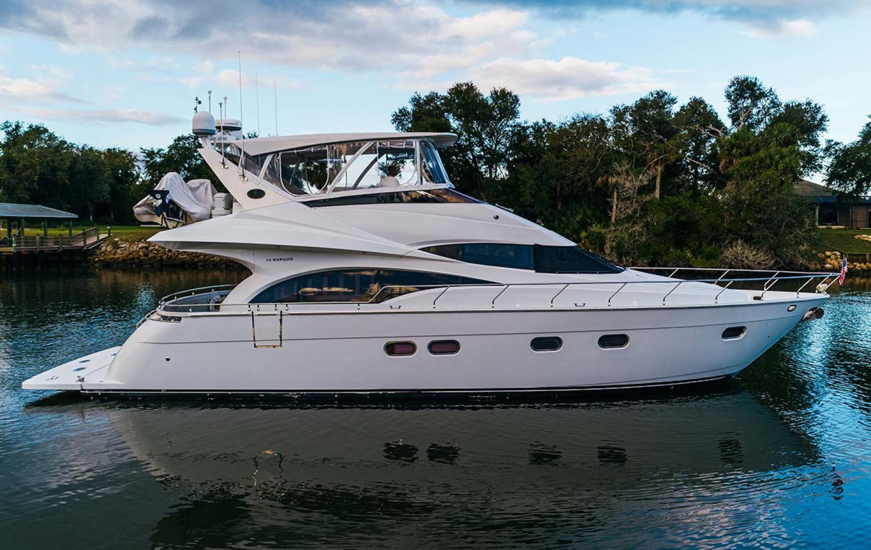 Marquis-Flybridge Motor Yacht 2004-Sandy Island Palm Coast-Florida-United States-Starboard Profile  4-1247844 | Thumbnail