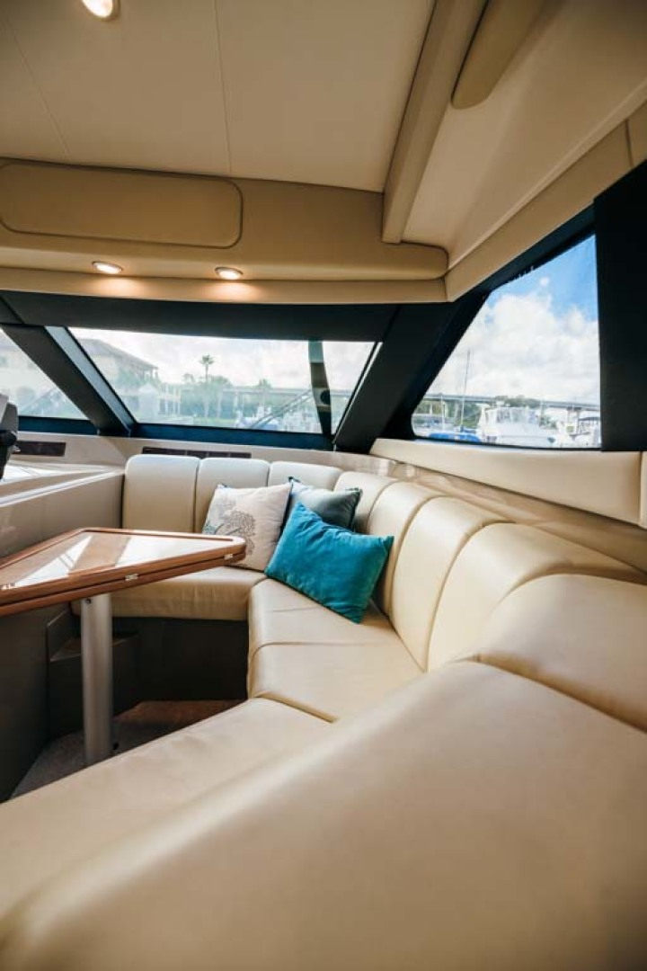 Marquis-Flybridge Motor Yacht 2004-Sandy Island Palm Coast-Florida-United States-Dinette Settee-1247870 | Thumbnail