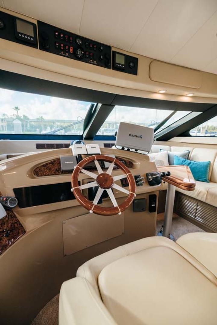 Marquis-Flybridge Motor Yacht 2004-Sandy Island Palm Coast-Florida-United States-Lower Helm-1247873 | Thumbnail