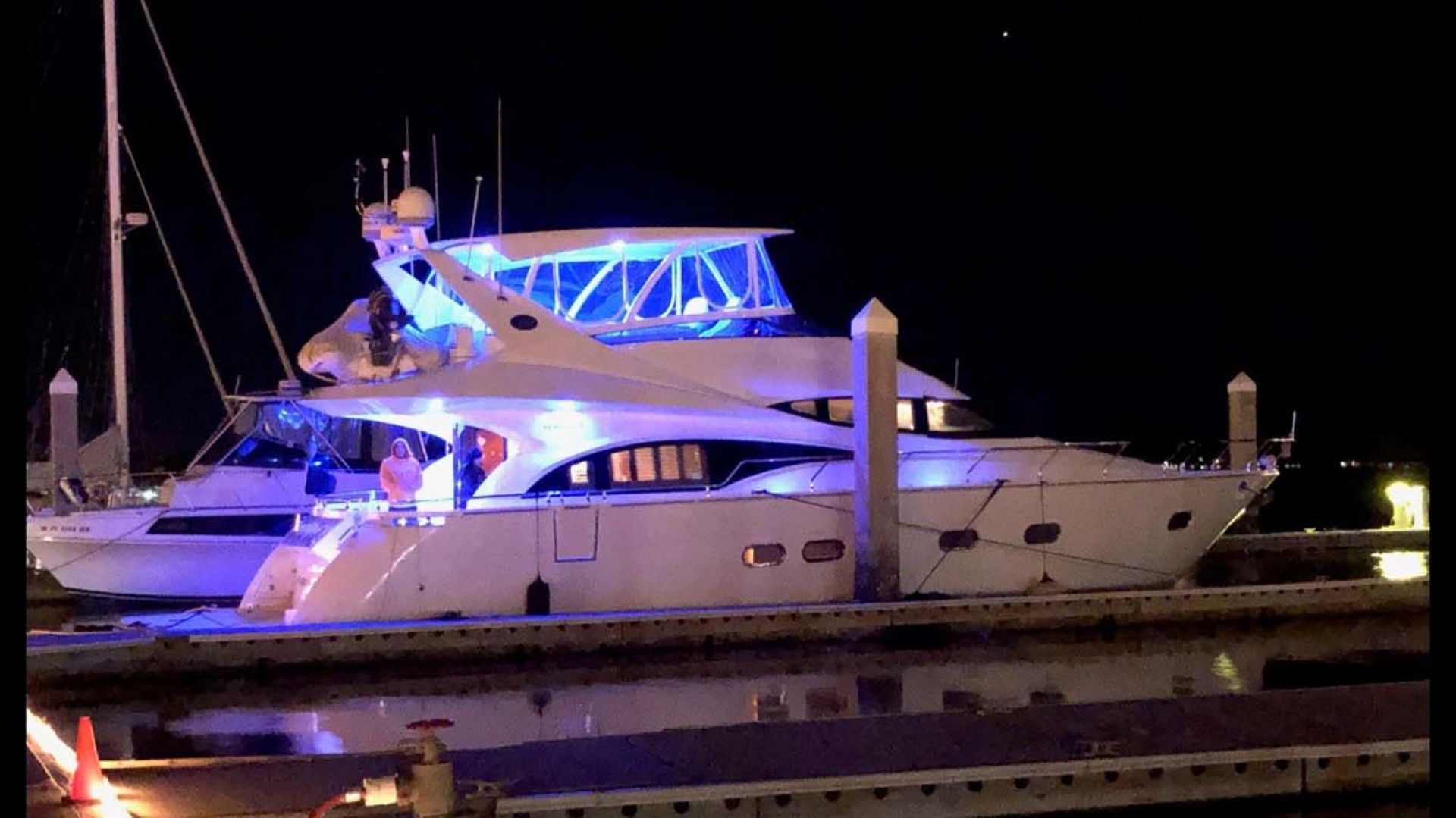 Marquis-Flybridge Motor Yacht 2004-Sandy Island Palm Coast-Florida-United States-Starboard View at Night-1202547 | Thumbnail