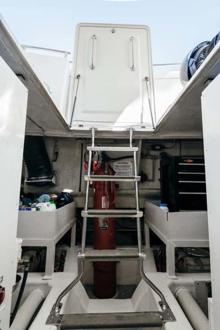 Marquis-Flybridge Motor Yacht 2004-Sandy Island Palm Coast-Florida-United States-Engine Room Hatch Access-1247937 | Thumbnail