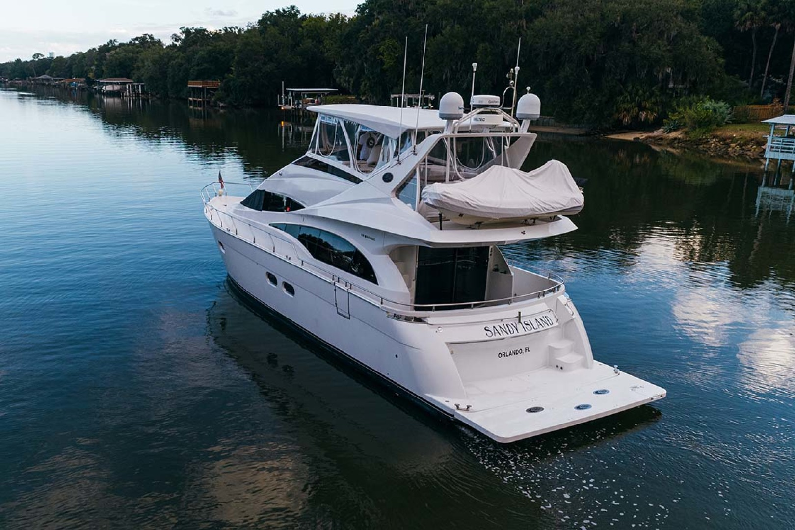 Marquis-Flybridge Motor Yacht 2004-Sandy Island Palm Coast-Florida-United States-Port Aft Aerial  16-1247848 | Thumbnail