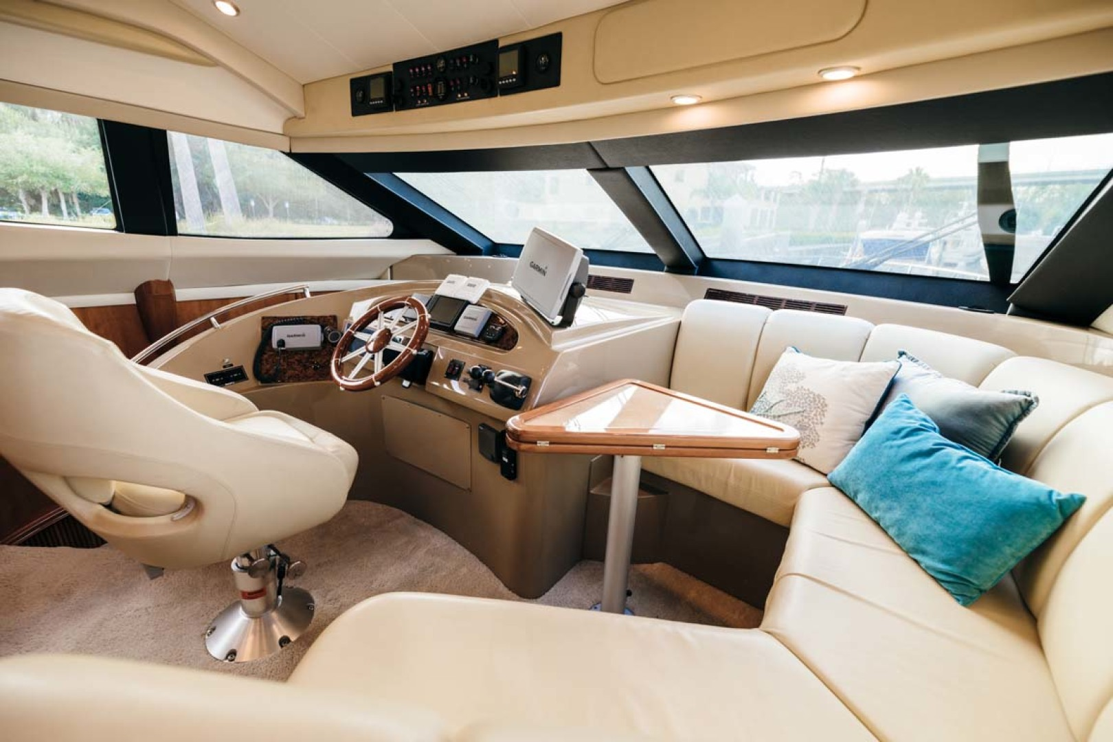 Marquis-Flybridge Motor Yacht 2004-Sandy Island Palm Coast-Florida-United States-Lower Helm-1247872 | Thumbnail