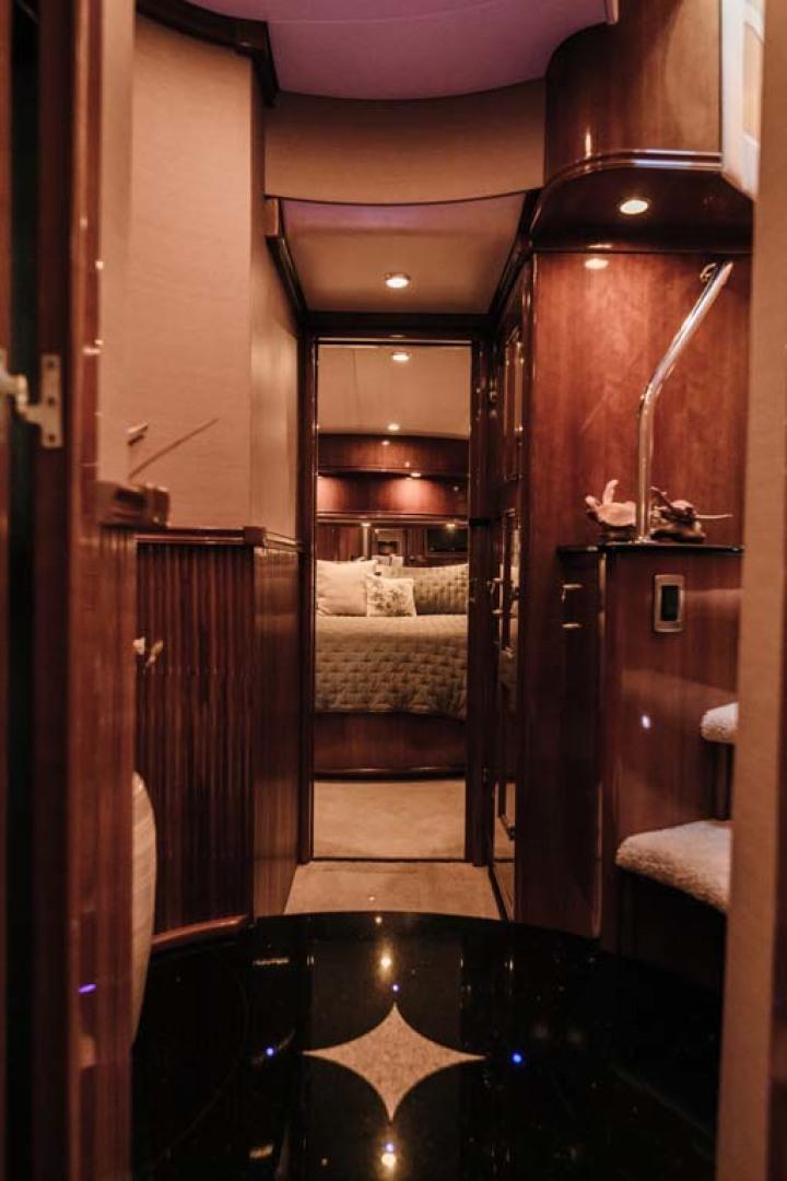 Marquis-Flybridge Motor Yacht 2004-Sandy Island Palm Coast-Florida-United States-Companionway to Master Stateroom-1247885 | Thumbnail