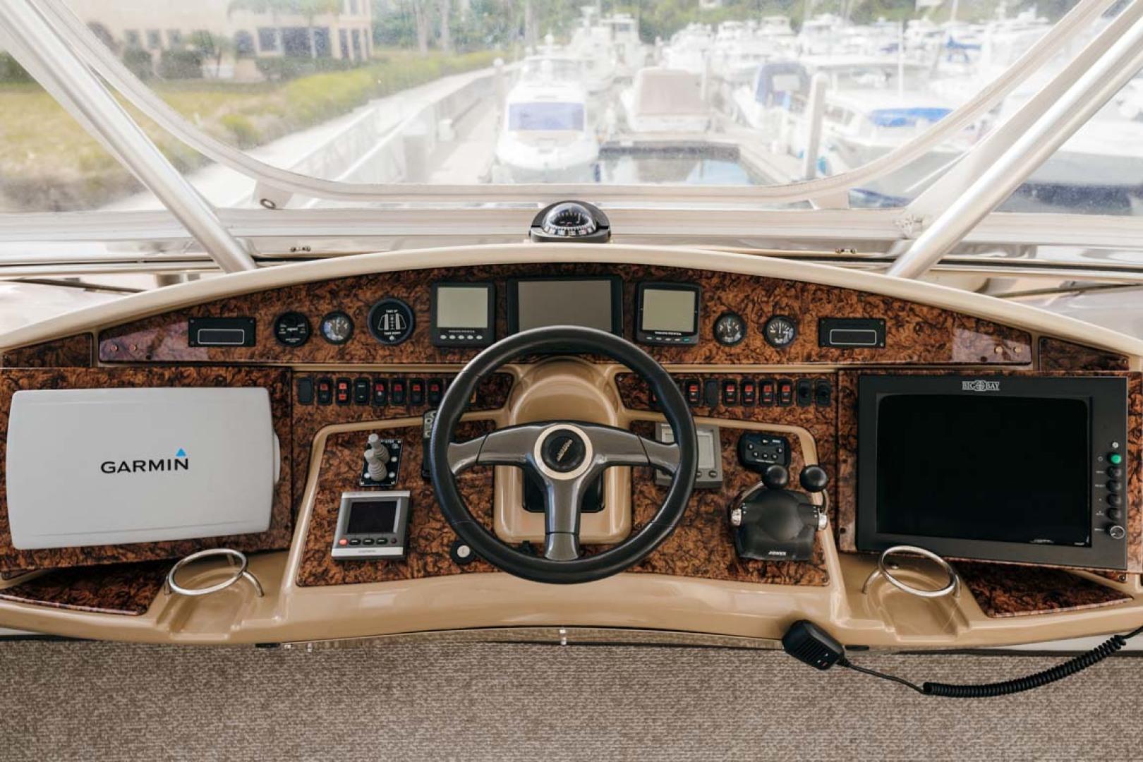 Marquis-Flybridge Motor Yacht 2004-Sandy Island Palm Coast-Florida-United States-Flybridge Helm-1247933 | Thumbnail