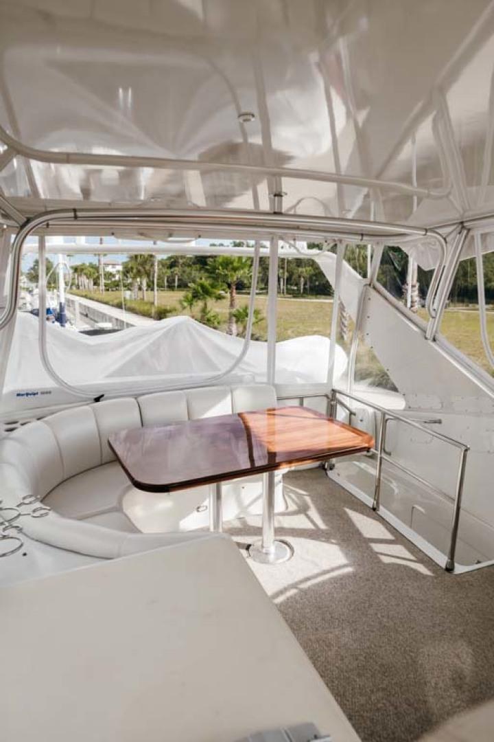 Marquis-Flybridge Motor Yacht 2004-Sandy Island Palm Coast-Florida-United States-Flybridge Seating to Aft-1247927 | Thumbnail