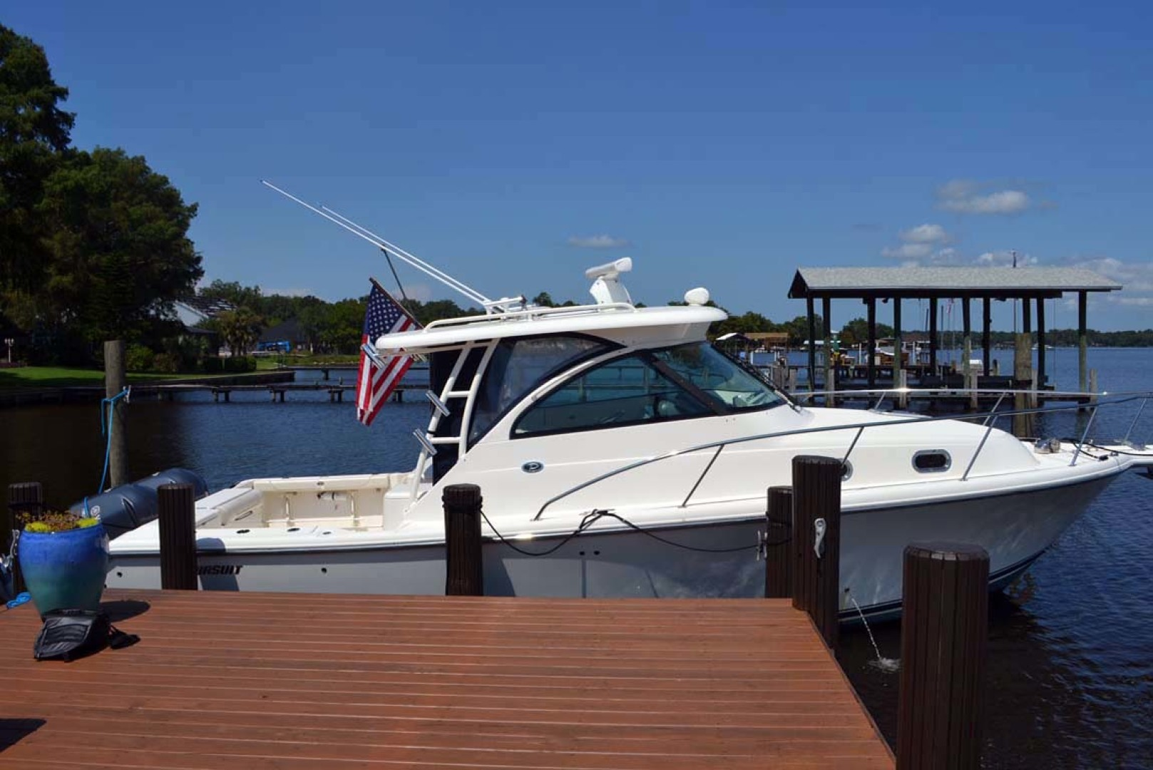Pursuit-345 OS 2012-Birdhouse Jacksonville-Florida-United States-Starboard At Dock-1205701 | Thumbnail