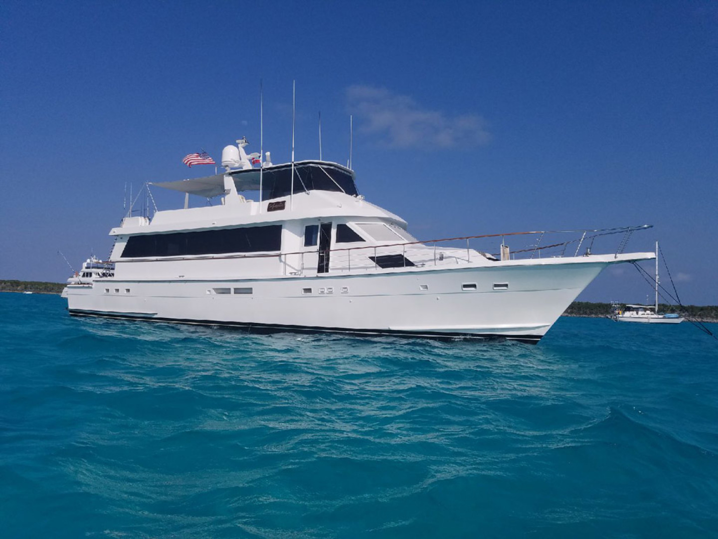Hatteras-Cockpit Motoryacht 1989-Amelia Boca Raton-Florida-United States-Profile Starboard Side View-1206077 | Thumbnail