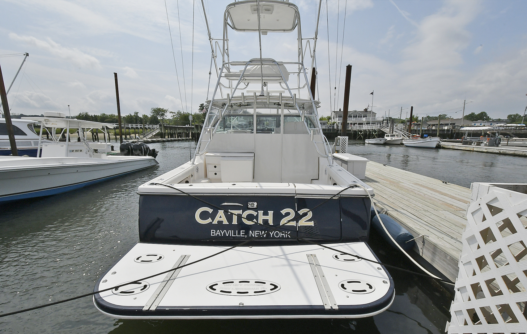 Tiara-3800 Open 2003-Catch 22 Oyster Bay-New York-United States-Transom-1224906 | Thumbnail