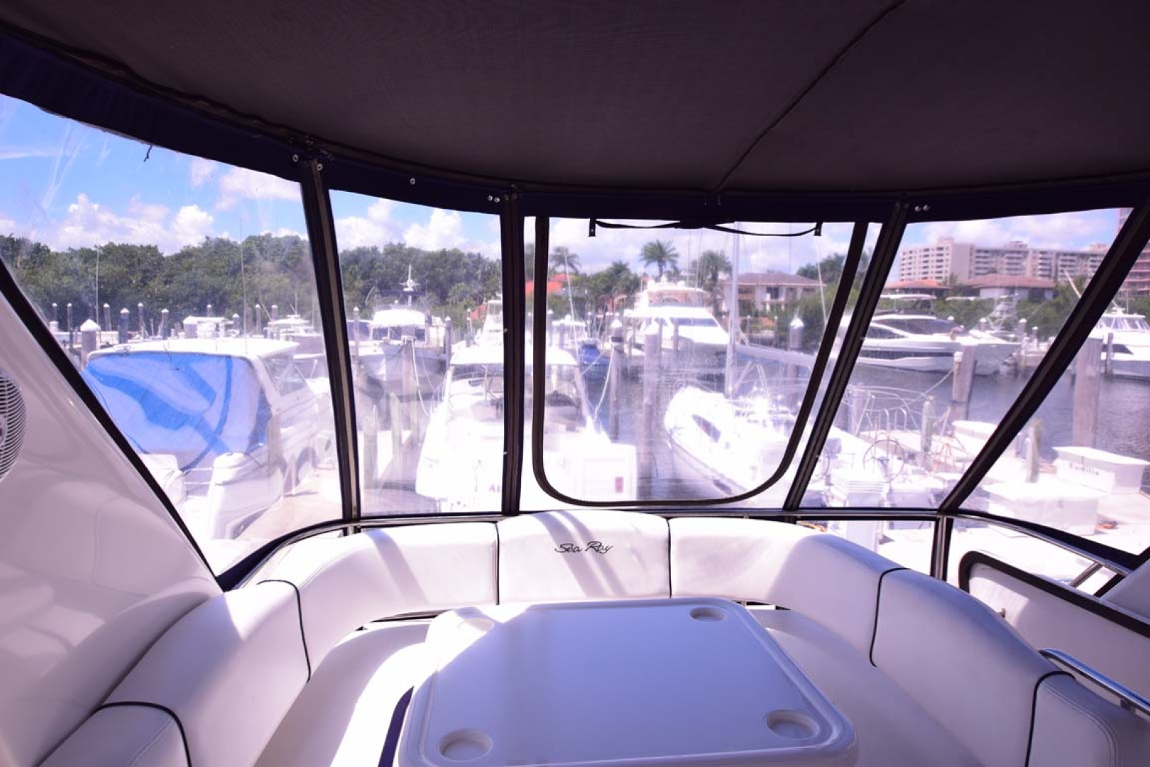Sea Ray-44 Sedan Bridge 2006-Mr. Munch Coral Gables-Florida-United States-Flybridge Canvas And Eisinglass To Aft-1229878 | Thumbnail