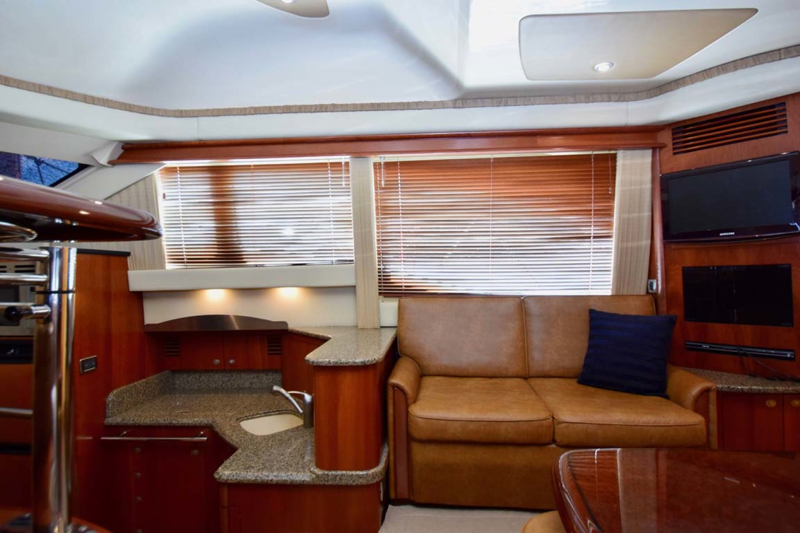 Sea Ray-44 Sedan Bridge 2006-Mr. Munch Coral Gables-Florida-United States-STBD Side Couch And Galley Down-1229834 | Thumbnail