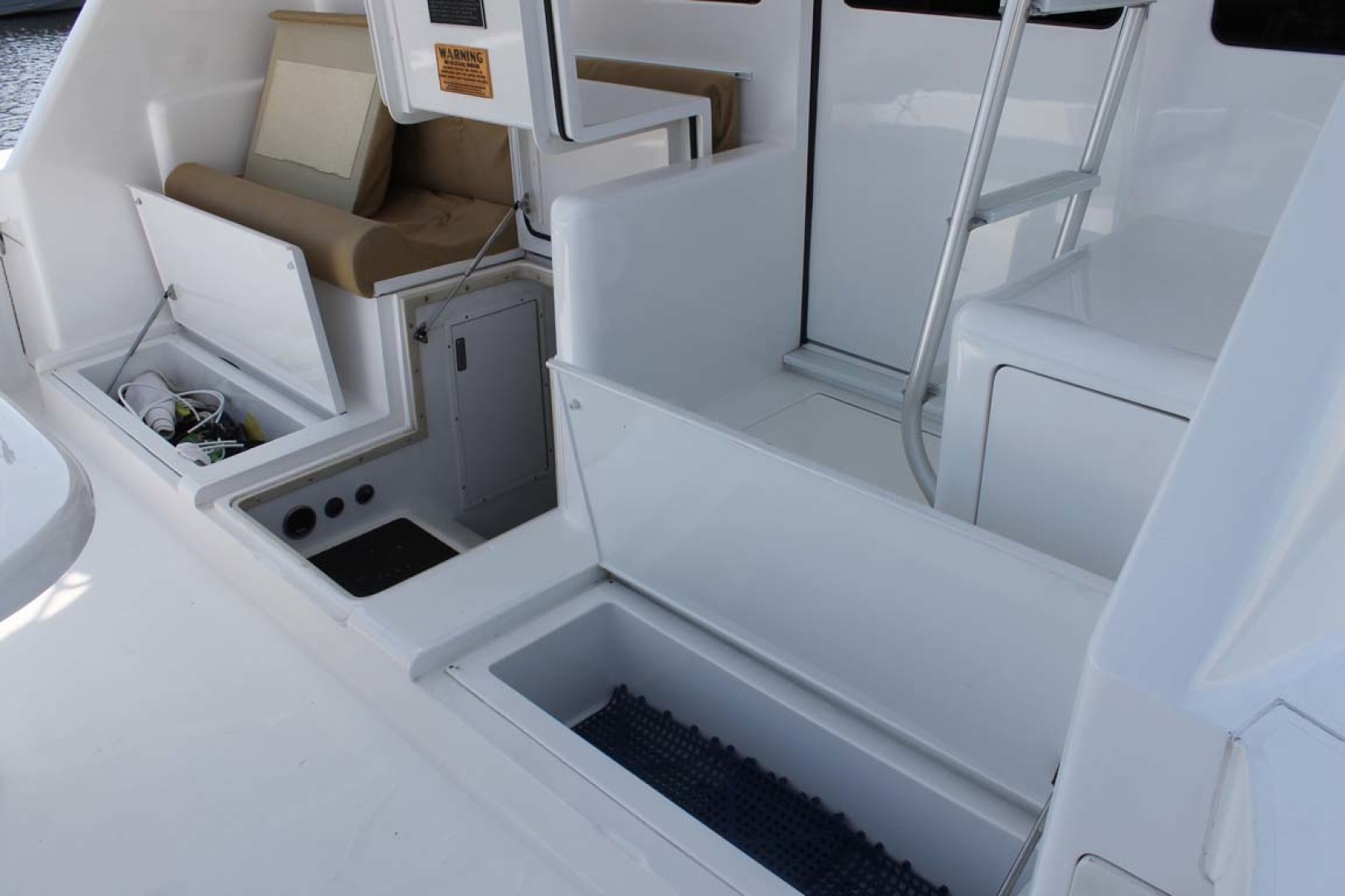 Viking-52 Convertible 2002-Wound Up Cape May-New Jersey-United States-Cockpit Storage-1230091 | Thumbnail