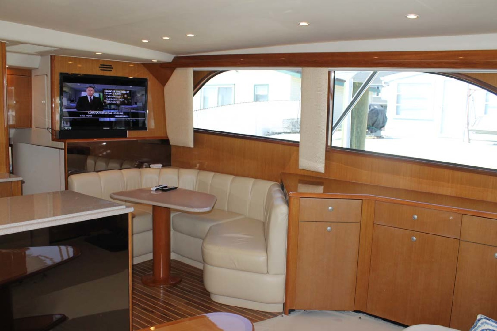 Viking-52 Convertible 2002-Wound Up Cape May-New Jersey-United States-Dinette And Seating-1230055 | Thumbnail