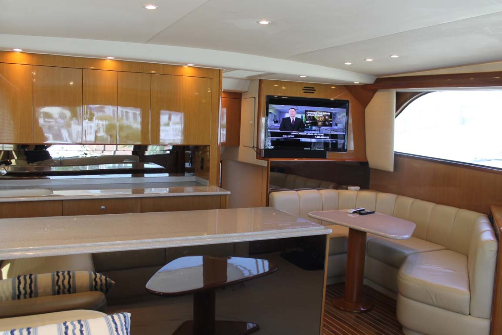 Viking-52 Convertible 2002-Wound Up Cape May-New Jersey-United States-Dinette And Galley-1230056 | Thumbnail