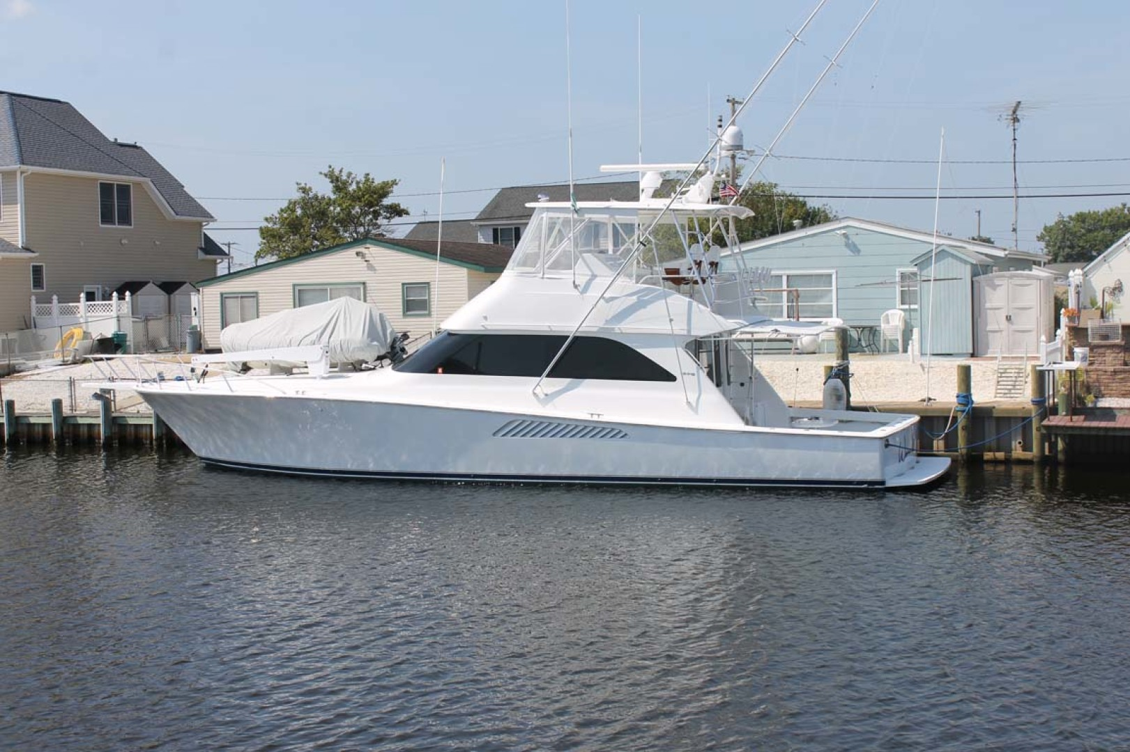 Viking-52 Convertible 2002-Wound Up Cape May-New Jersey-United States-Starboard Side At Dock-1230034 | Thumbnail