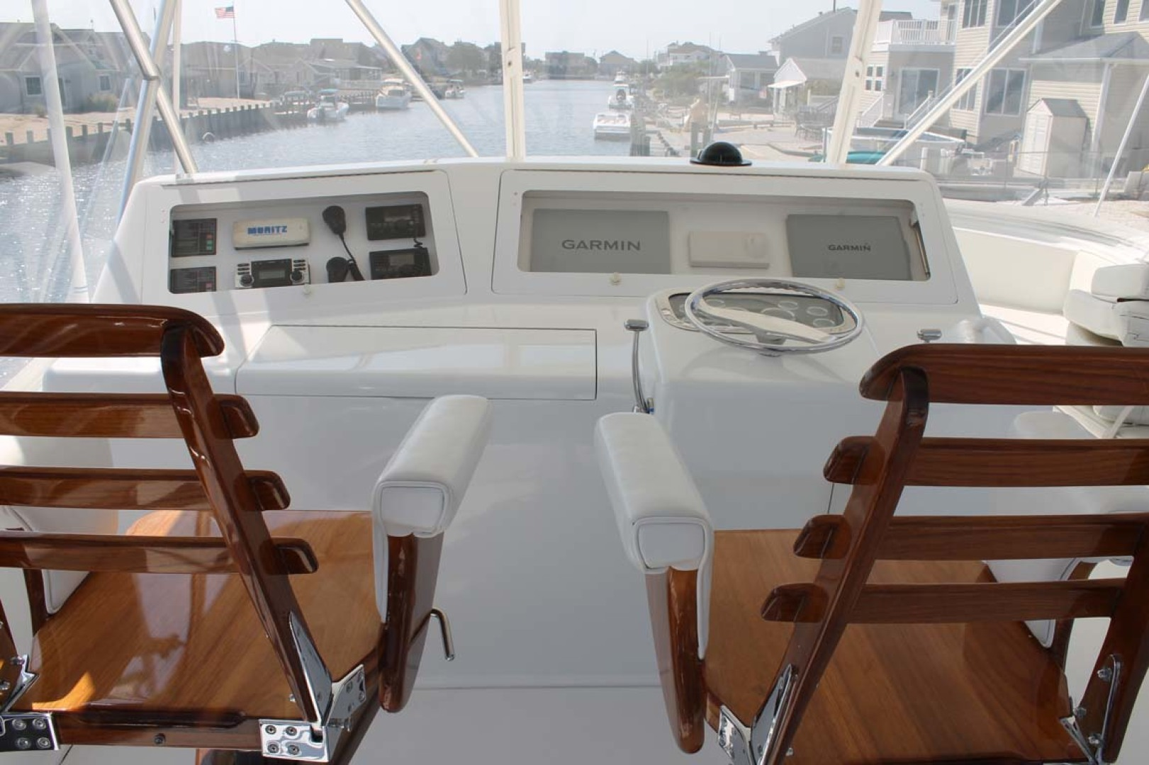 Viking-52 Convertible 2002-Wound Up Cape May-New Jersey-United States-Teak Helm Chairs-1230039 | Thumbnail