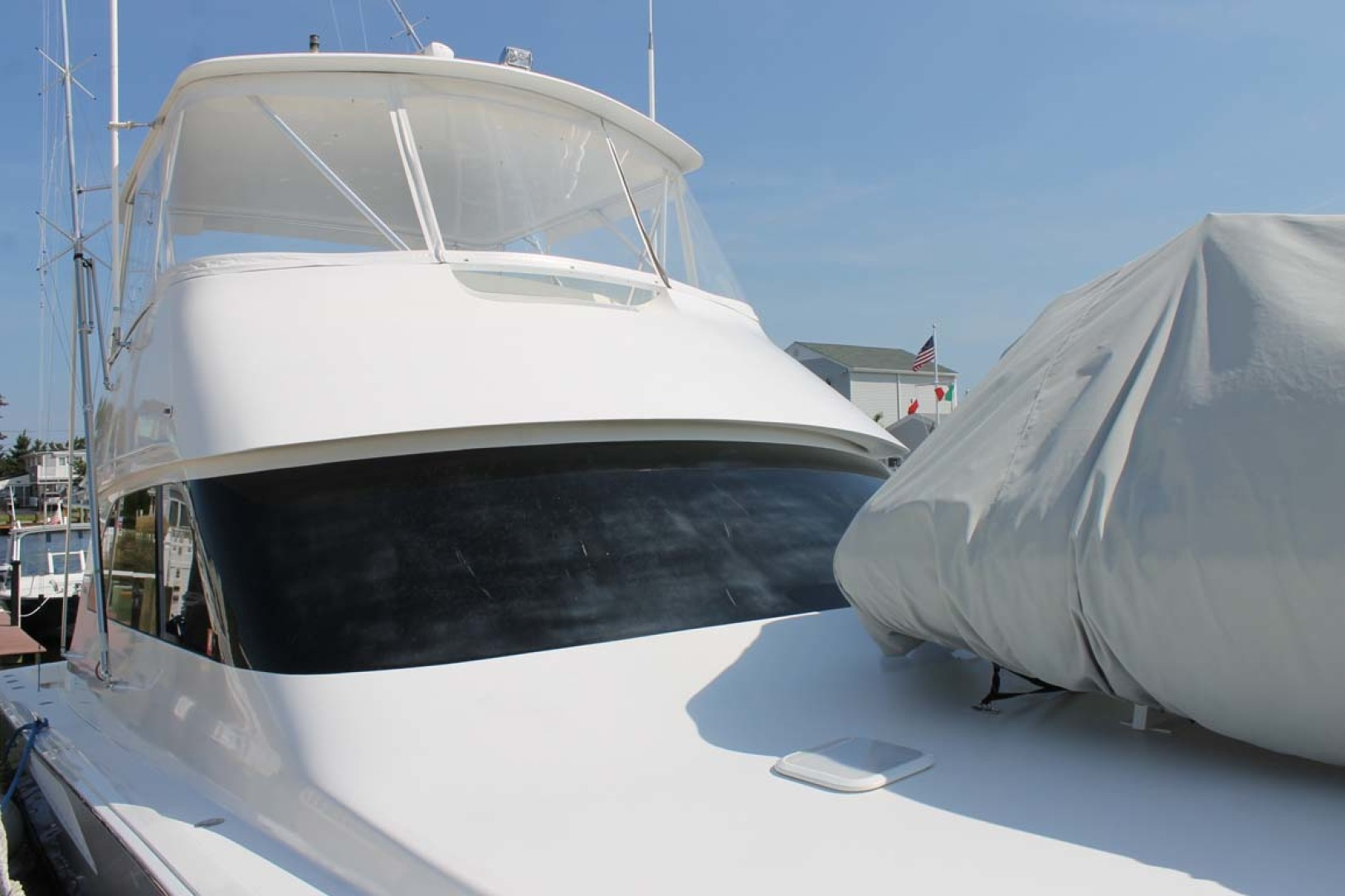 Viking-52 Convertible 2002-Wound Up Cape May-New Jersey-United States-Foredeck With Tender Covered-1230035 | Thumbnail