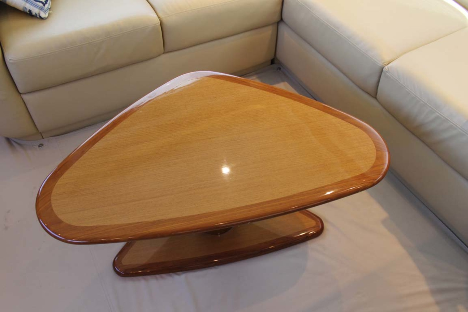 Viking-52 Convertible 2002-Wound Up Cape May-New Jersey-United States-Salon Teak Table-1230054 | Thumbnail