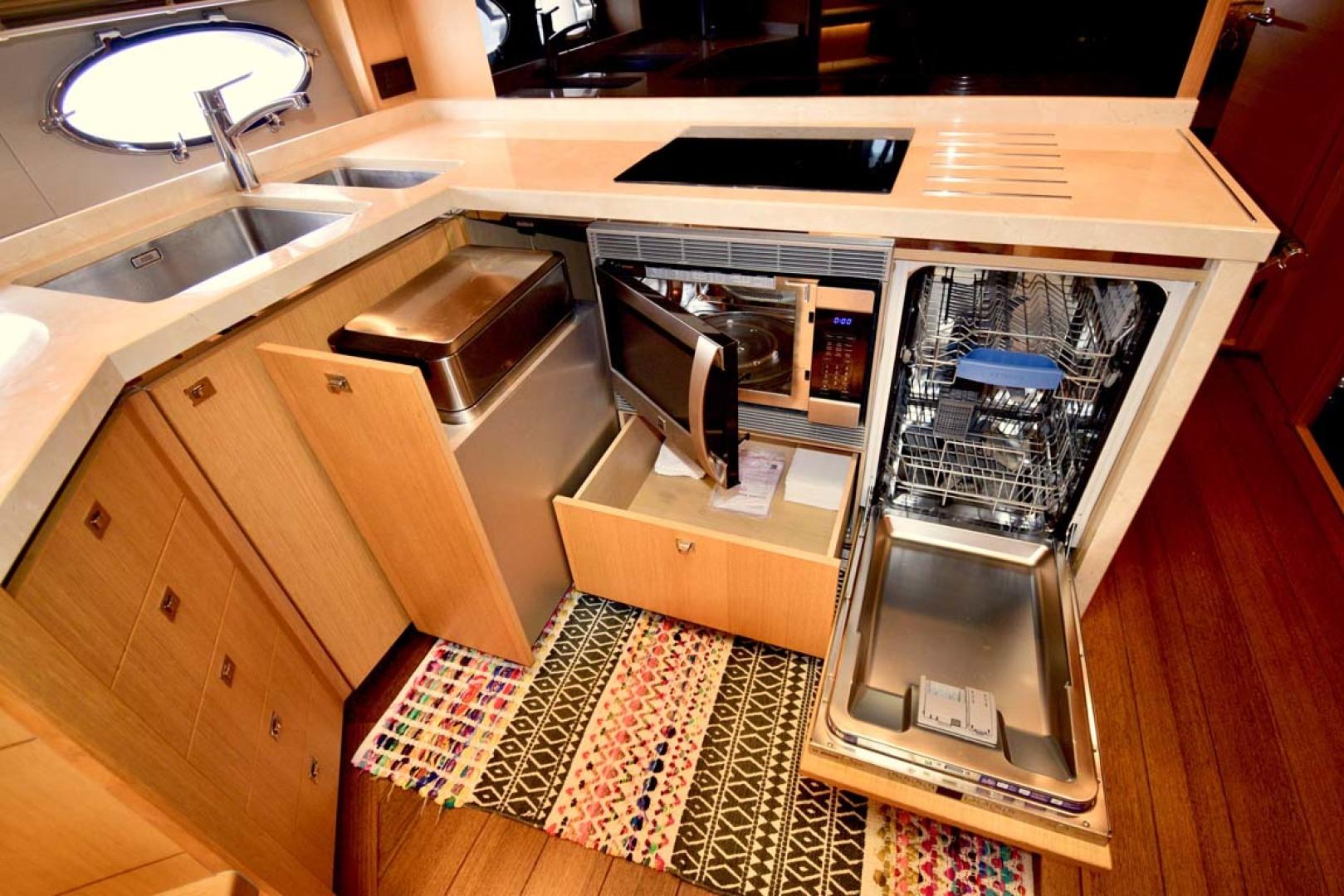Princess-V72 2013-High Bid Destin-Florida-United States-Galley With Oven And Dishwasher-1233069 | Thumbnail