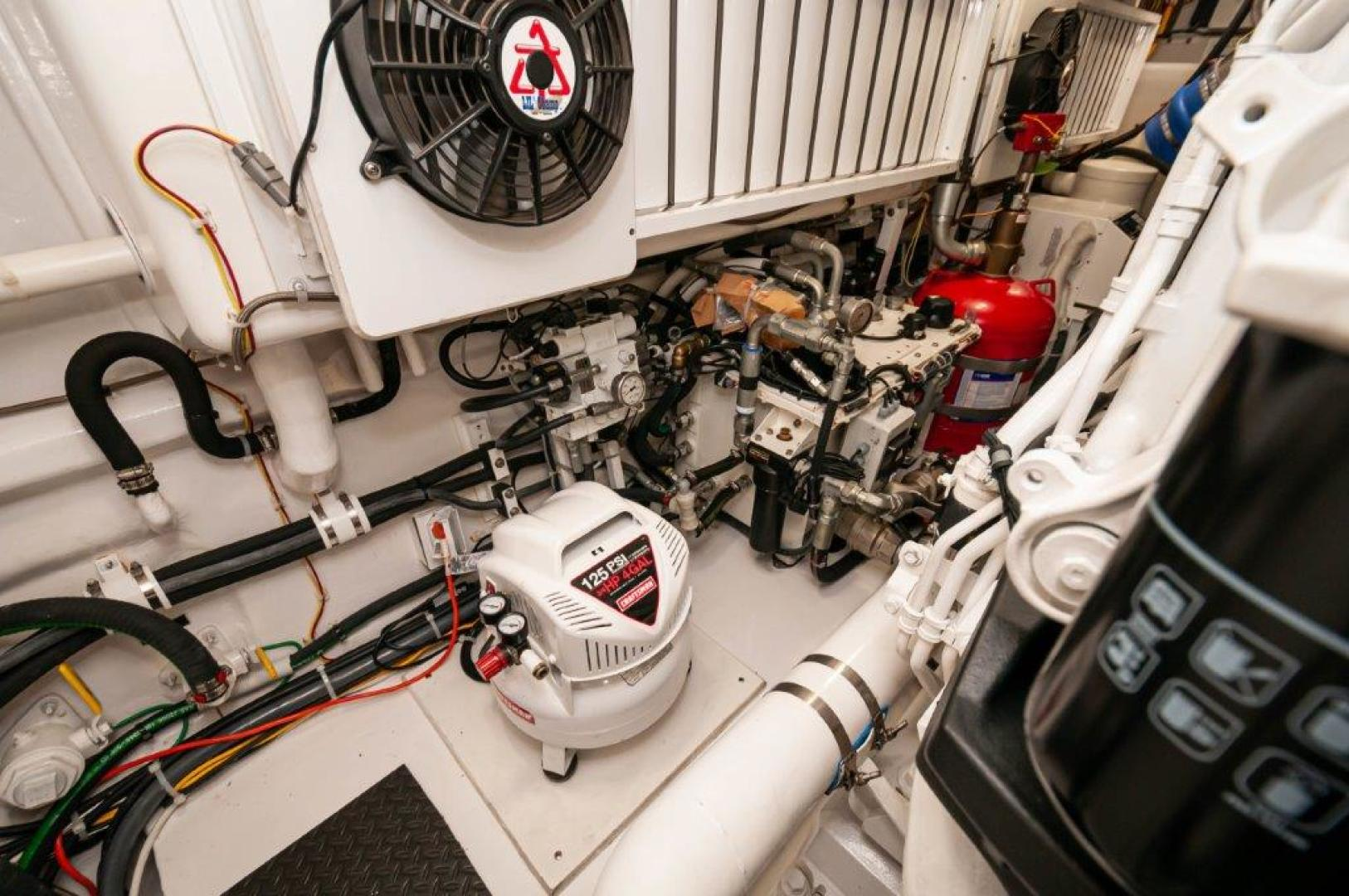 Viking-72 Enclosed Bridge 2017-SHARE E Orange Beach-Alabama-United States-2017 72 EB Viking SHARE-E  Engine Room-1233231 | Thumbnail