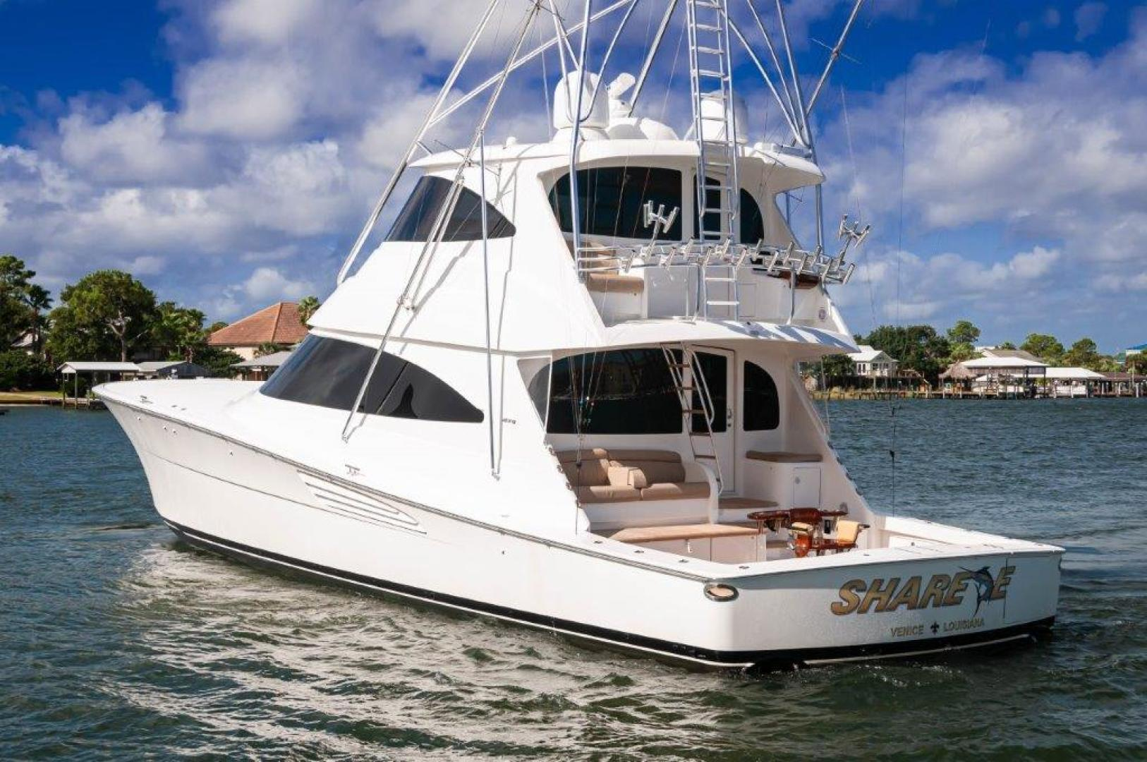 Viking-72 Enclosed Bridge 2017-SHARE E Orange Beach-Alabama-United States-2017 72 EB Viking SHARE-E Transom-1233272 | Thumbnail