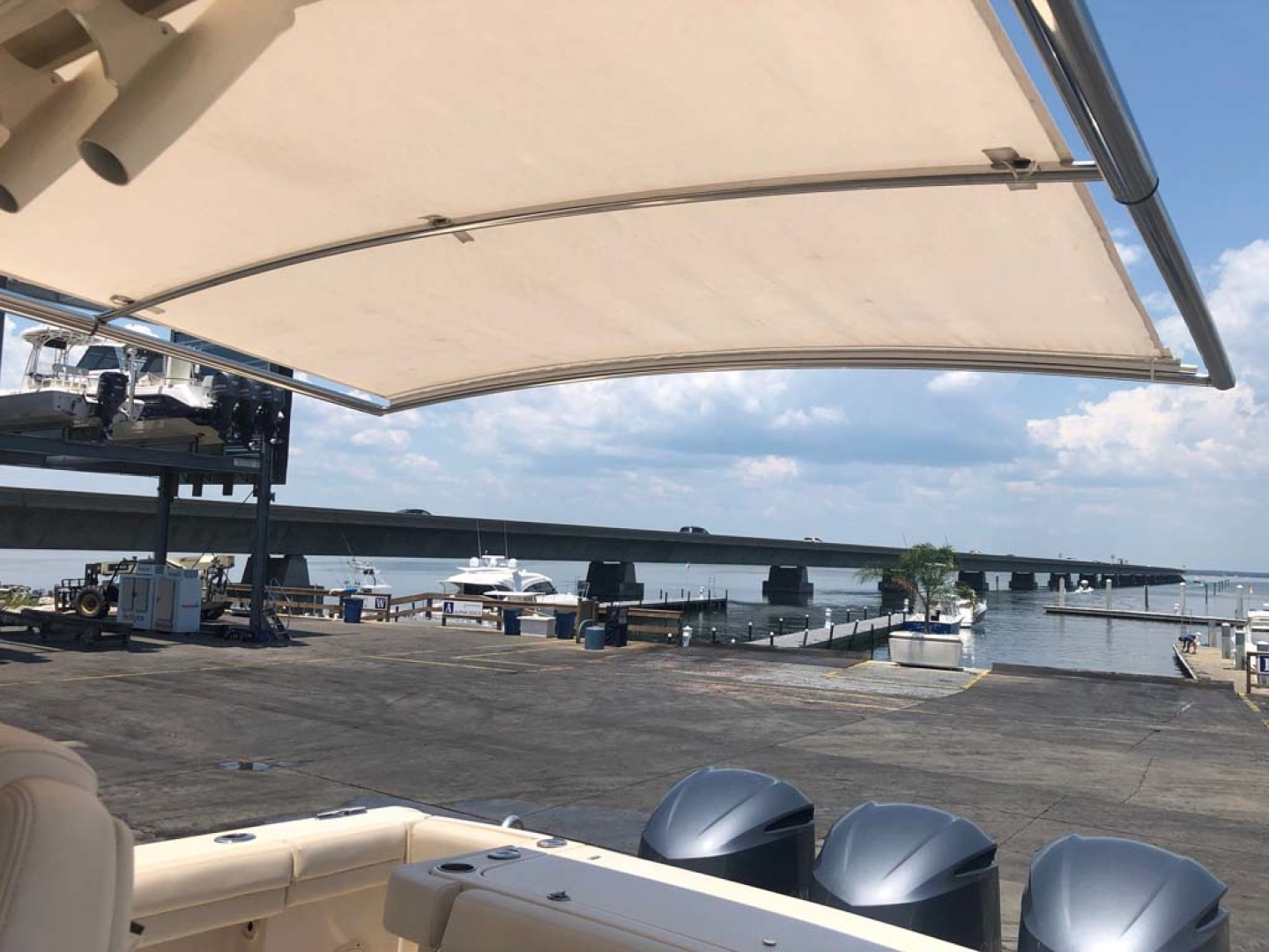 Grady-White-336 Canyon 2017-Lila Maya III Destin-Florida-United States-Cockpit Shade 12v Retractable-1238874 | Thumbnail